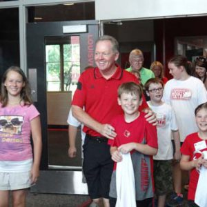 Bobby Petrino at the Just for Kids Football Clinic