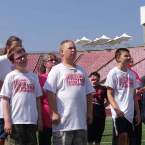Just for Kids Football Clinic in papa johns stadium