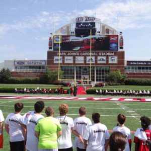 Just for Kids Football Clinic at the university of louisville